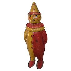 Vintage windup tin toy Johnny Clown by Lindstrom