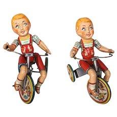 Vintage Unique Art Kiddie Cyclist windup toy