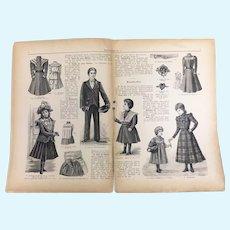 """Antique magazine"""" Kindermodenwelt"""" from 1899-1900"""