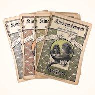 "Antique magazine"" Kindermodenwelt"" from 1899-1900: set of 4 issues"