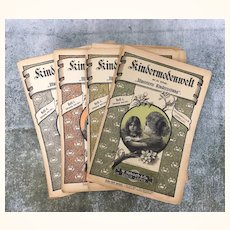 "Antique magazine"" Kindermodenwelt"" from 1899-1900: set of 4 issues"