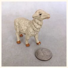 Vintage tiny Italian plaster sheep