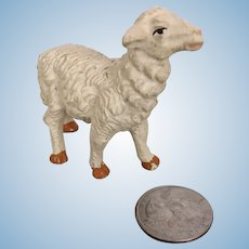 Vintage tiny Italian plaster sheep