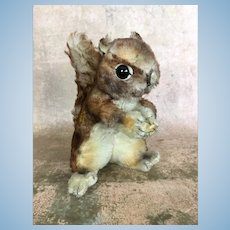 "Vintage mohair Steiff ""Perri"" squirrel in largest size"