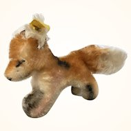 "Vintage Steiff ""Xorry"" Fox in smallest size"