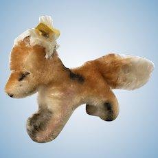 "Vintage Steiff ""Xorry"" Fox in smallest size"