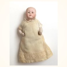 Antique Gebruder Heubach bisque head baby boy doll