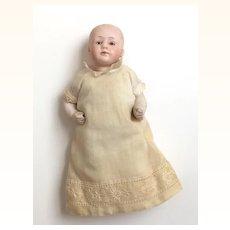 Antique Gebruder Heubach bisque head baby boy doll,