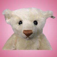 Vintage 1989 white mohair Steiff teddy bear with working growler