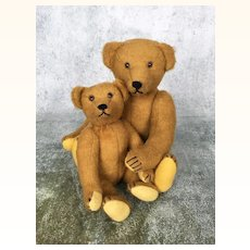 Two vintage artist teddy bears by Irene Burnley