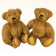 Vintage pair of artist teddy bears by Twila Burnley