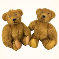 Vintage pair of artist teddy bears by Twila Burnley