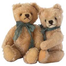 Vintage pair of mohair teddy bears