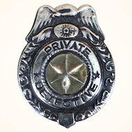 Vintage toy detective badge