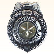 Vintage toy detective badge