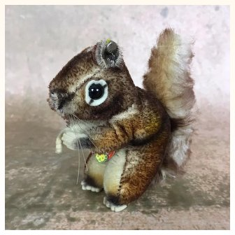 "Steiff's smallest ""Perri"" mohair squirrel"