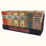 "Vintage Russell miniature ""Library of Games"""