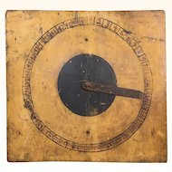 Antique primitive game board with original paint
