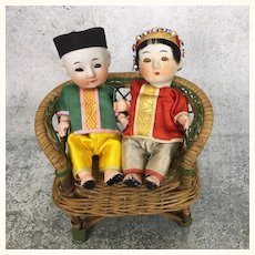 Adorable pair of Vintage Chinese dolls