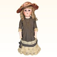 "Antique 20 inch German ""Dainty Dorothy"" bisque doll by Gebruder Heubach"