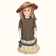 "Antique 20 inch German ""Dainty Dorothy"" bisque doll by Gebruder Heubach"