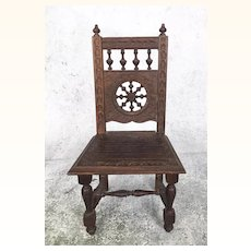 Vintage Brittany miniature wooden chair