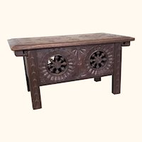 Vintage miniature Brittany table with sliding top