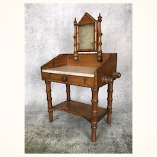 Fabulous French maple faux bamboo dressing table for dolls
