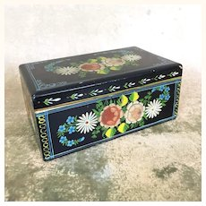 Early Hand Painted black box