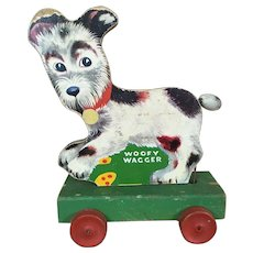 1940's Fisher Price Woofy Wagger Pull Toy