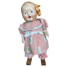 Rare walking composition wind up doll