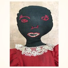 Vintage unusual black toaster cover cloth doll