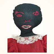Vintage unusual black toaster cover cloth doll