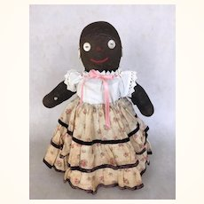 Vintage cloth black sock doll