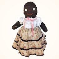 Vintage cloth black sock doll