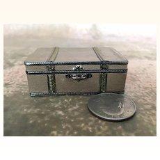 Vintage miniature dollhouse suitcase