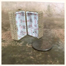 Micro miniature dollhouse doll's trunk