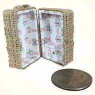 Micro miniature dollhouse doll's trunk