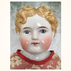 Antique Alt Beck blonde china beauty in red dress