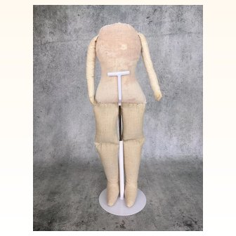 Handmade body for china head or papier mache doll