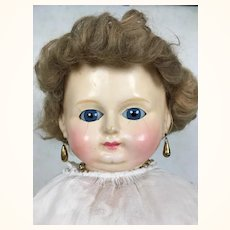 Antique wax over papier mache beautiful large doll