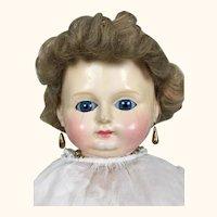 Antique wax over papier mache beautiful large doll