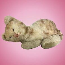 "Vintage Steiff Sleeping Cat ""Snurry"""