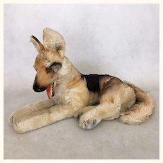 "Vintage Steiff German Shepherd, ""Arco"" in medium size"