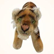 Steiff running mohair medium sized tiger cub