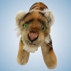 Steiff running mohair medium sized tiger cub