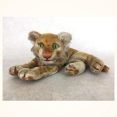 Vintage Steiff reclining Lion Cub