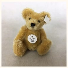 Vintage 1998 Steiff Club miniature mohair teddy bear