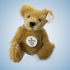 Vintage 1998 Steiff Club miniature mohair teddy bear