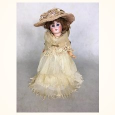 Unusual German Belton head bride doll